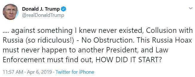 trump tweet how did it start